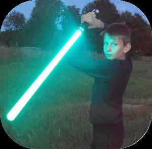 Sabre laser de nuit